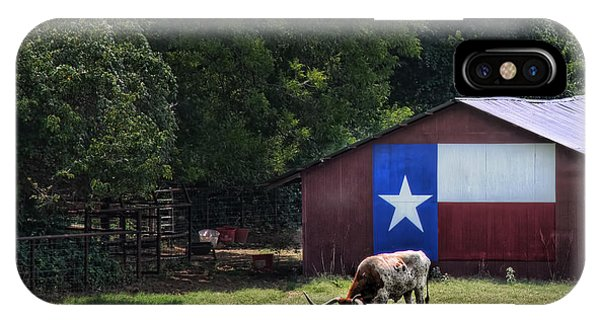 Texas Longhorn Grazing IPhone Case