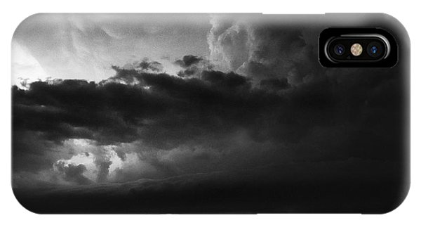 Texas Panhandle Supercell - Black And White IPhone Case