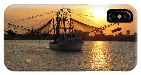 Texas Shrimp Boat  IPhone Case