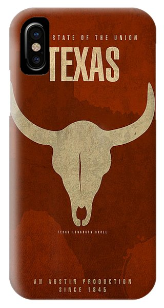 University iPhone Case - Texas State Facts Minimalist Movie Poster Art  by Design Turnpike
