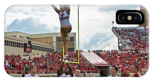 Texas Tech Cheerleaders Phone Case by Mae Wertz