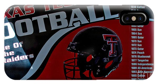 IPhone Case featuring the photograph Texas Tech Football History Chart by Mae Wertz
