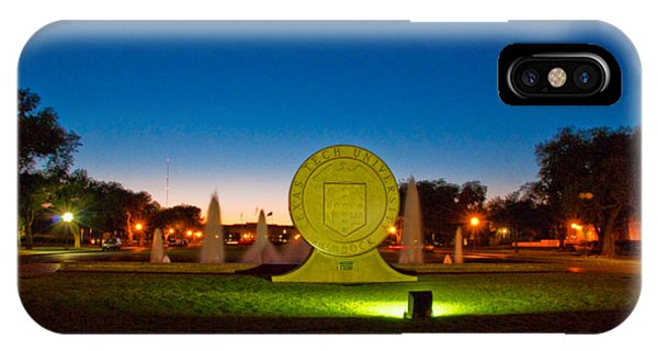 IPhone Case featuring the photograph Texas Tech Seal At Night by Mae Wertz