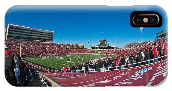 IPhone Case featuring the photograph Texas Tech University Jones Stadium by Mae Wertz