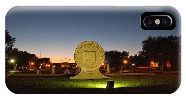 Texas Tech University Seal At Sundown Second Image Phone Case by Mae Wertz