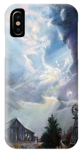Texas Thunderstorm IPhone Case