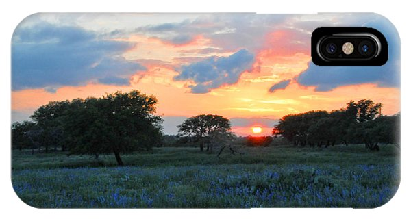 Texas Wildflower Sunset  IPhone Case