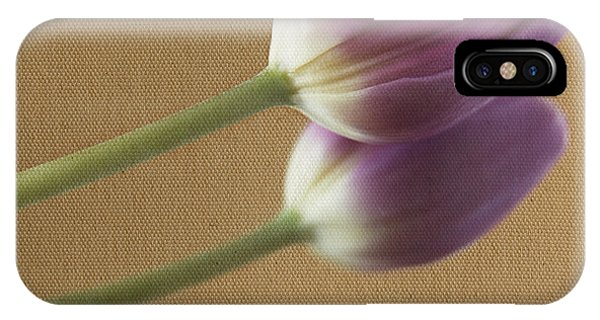 Textured Purpletulip IPhone Case