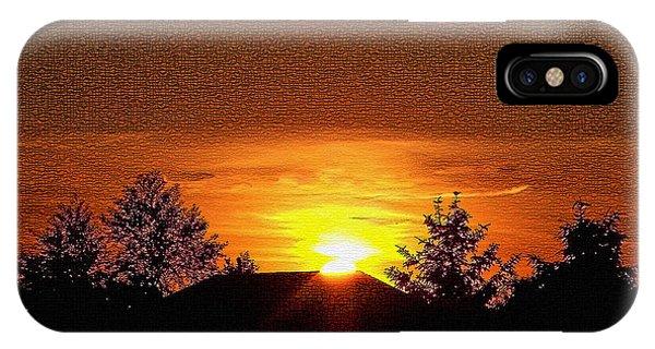 Textured Rural Sunset IPhone Case