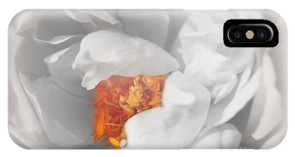 Textured Summer Rose IPhone Case