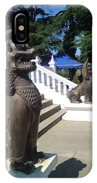 Thai Temple Steps IPhone Case
