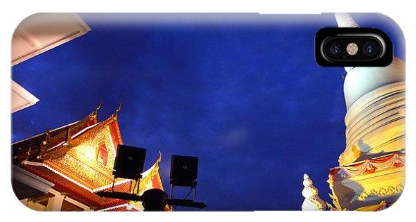 Thai Temple Sunset IPhone Case