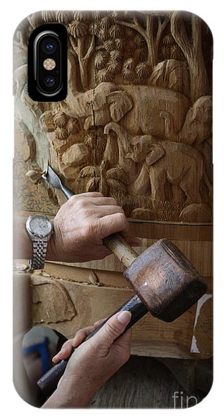 Woodworking iPhone Case - Thai Woodworker by Inge Johnsson