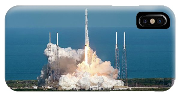 Liftoff iPhone Case - Thaicom 8 Satellite Launch by Spacex/science Photo Library