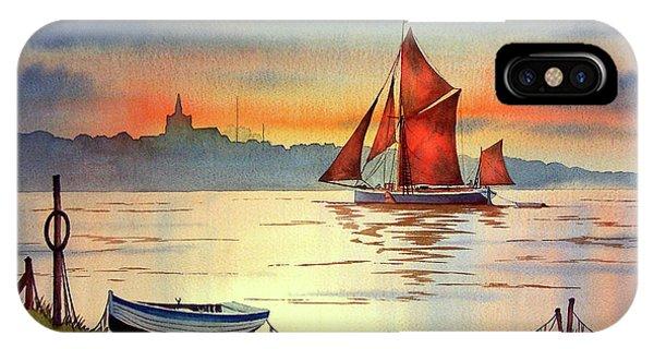 Thames Barge At Maldon Essex IPhone Case