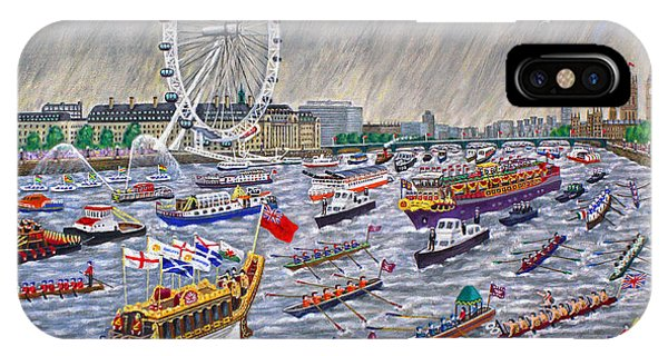 Thames Diamond Jubilee Pageant  IPhone Case