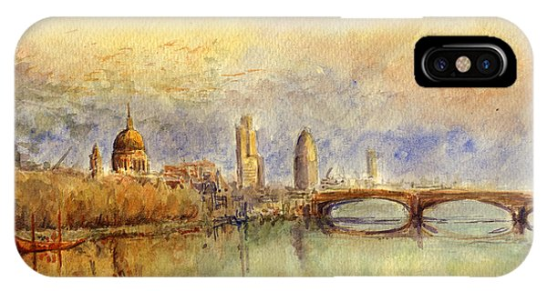 England iPhone Case - Thames London by Juan  Bosco