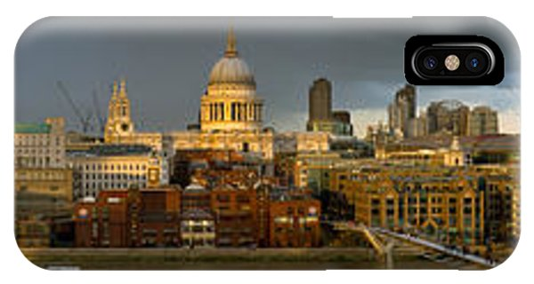 Thames With St Paul's Panorama IPhone Case
