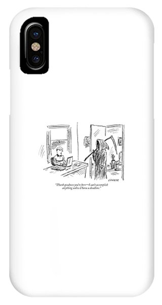 Thank Goodness You're Here - I Can't Accomplish IPhone Case