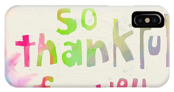 Holiday iPhone Case - Thankful by Cathy Walters