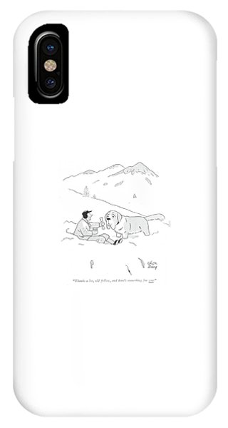 Bone iPhone Case - Thanks A Lot by Chon Day