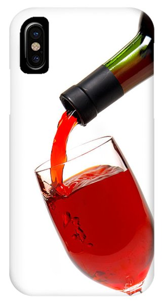 Wine Pouring iPhone Case - Thanks by Olivier Le Queinec