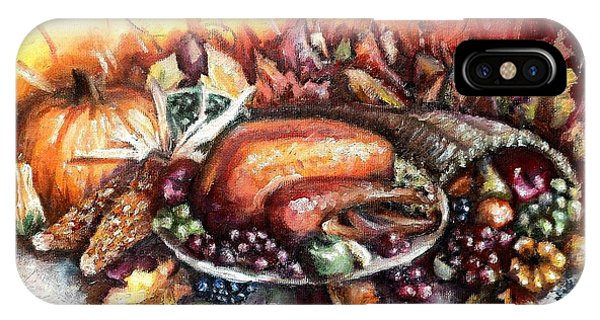 Thanksgiving Dinner IPhone Case