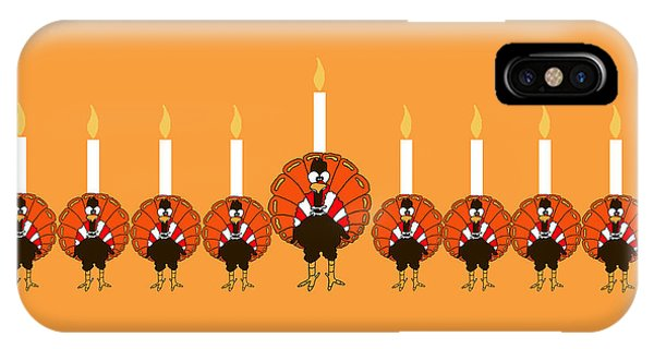 Thanksgivukkah Turkey Menorah IPhone Case