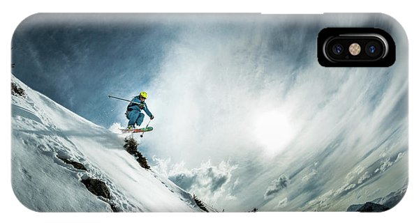 French iPhone X Case - Tha??o De La Soujeole At Home In Flaine by Eric Verbiest