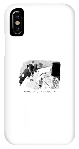 Pub iPhone Case - That Bill Moyers Makes Me Feel One Hundred by Joseph Mirachi