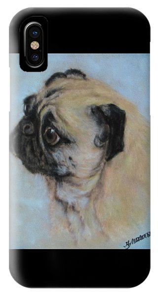 Pug's Worried Look IPhone Case