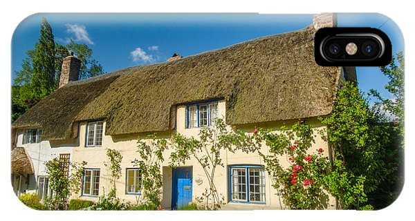 Thatched Cottage In Dunster Somerset Phone Case by David Ross