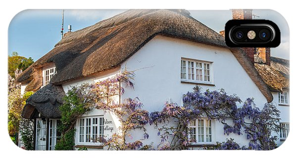Thatched Cottage In Otterton Devon Phone Case by David Ross