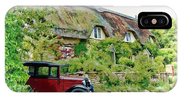 IPhone Case featuring the photograph Thatched Cottages At Reybridge by Paul Gulliver