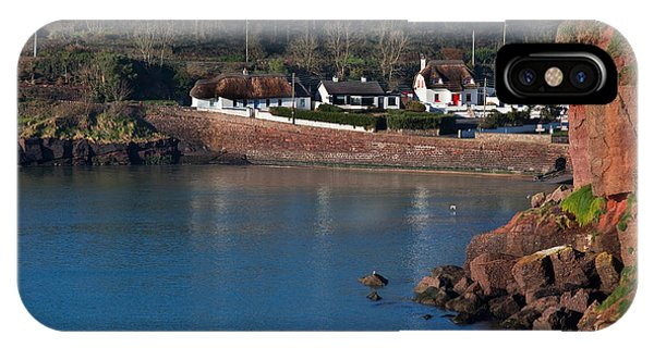 Dunmore East iPhone Case - Thatched Cottages, Dunmore Strand by Panoramic Images