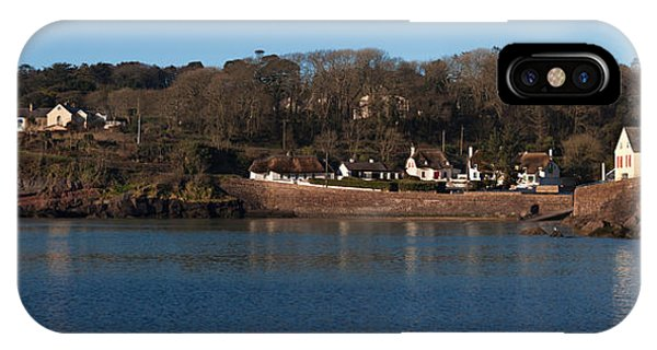 Dunmore East iPhone Case - Thatched Cottages In A Town, Dunmore by Panoramic Images