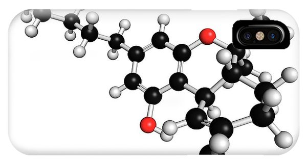 Delta iPhone Case - Thc Cannabis Drug Molecule by Molekuul