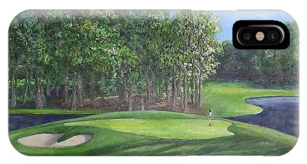 The 10th At Meadow Brook Golf Club Phone Case by Annie St Martin