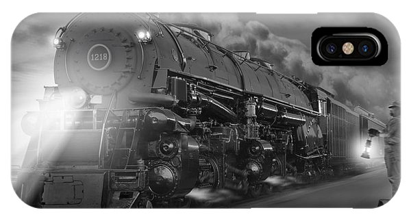 Railroad Station iPhone Case - The 1218 On The Move 2 by Mike McGlothlen