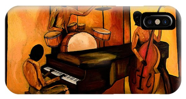 African American iPhone Case - The 1st Jazz Trio by Larry Martin