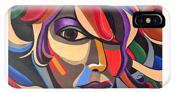 Abstract Woman Art, Abstract Face Art Acrylic Painting IPhone Case
