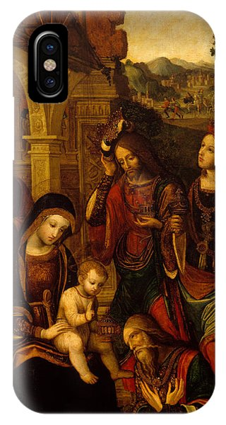 Mary Mother Of God iPhone Case - The Adoration Of The Kings by Neapolitan School