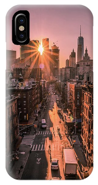 Rooftops iPhone Case - The All Seeing Sun by Christopher R. Veizaga