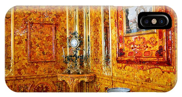 The Amber Room At Catherine Palace IPhone Case