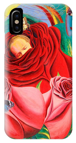 The Angel Of Roses IPhone Case