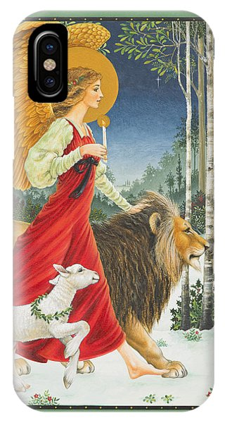 The Angel The Lion And The Lamb IPhone Case