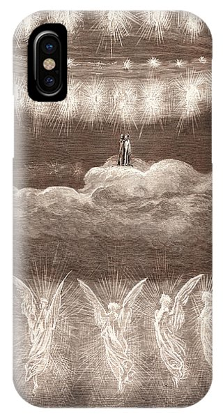 The Angelic Wreaths, By Gustave DorÉ. Dore IPhone Case
