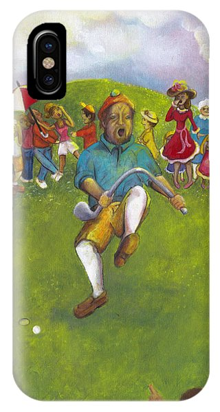The Angry Golfer  IPhone Case