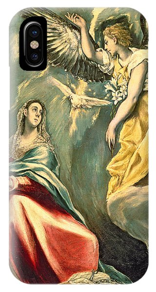 New Testament iPhone Case - The Annunciation, C.1595-1600 Oil On Canvas by El Greco