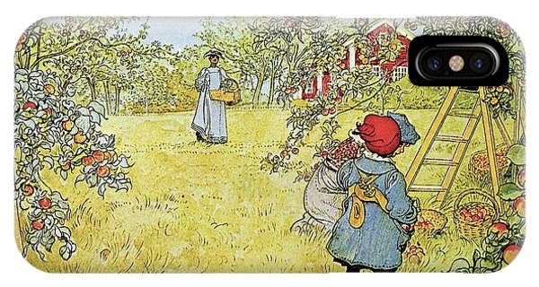 Farm iPhone Case - The Apple Harvest by Carl Larsson